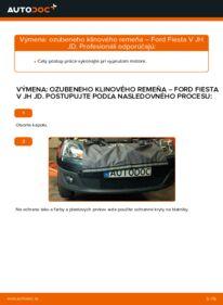 Ako vykonať výmenu: Klinový rebrovaný remen na 1.4 TDCi Ford Fiesta V jh jd