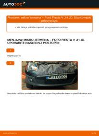 Kako izvesti menjavo: Rebrasti jermen na 1.4 TDCi Ford Fiesta V jh jd