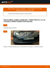 Cum să efectuați înlocuirea: Curea transmisie cu caneluri la 1.4 TDCi Ford Fiesta Mk5