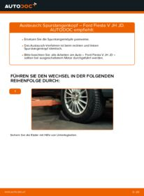 Wie der Austausch bewerkstelligt wird: Spurstangenkopf beim 1.4 TDCi Ford Fiesta V jh jd