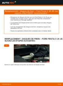 Comment effectuer un remplacement de Disques De Frein sur 1.4 TDCi Ford Fiesta V jh jd