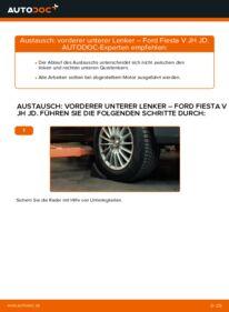 Wie der Wechsel durchführt wird: Querlenker 1.4 TDCi Ford Fiesta V jh jd tauschen