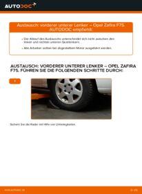 Wie der Wechsel durchführt wird: Querlenker 2.0 DTI 16V (F75) Opel Zafira f75 tauschen