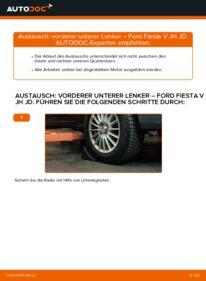 Wie der Austausch bewerkstelligt wird: Querlenker beim 1.4 TDCi Ford Fiesta V jh jd
