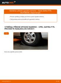 Jak provést výměnu: Rameno Zavesenia Kolies na 2.0 DTI 16V (F75) Opel Zafira f75