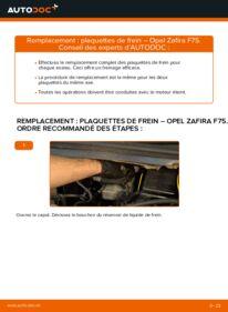 Comment effectuer un remplacement de Plaquettes de Frein sur 2.0 DTI 16V (F75) Opel Zafira f75