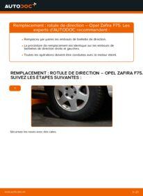 Comment effectuer un remplacement de Rotule De Direction sur 2.0 DTI 16V (F75) Opel Zafira f75