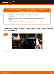 Jak provést výměnu: Vzpery Kufra na 2.0 DTI 16V (F75) Opel Zafira f75
