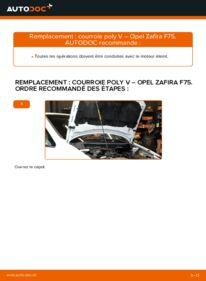 Comment effectuer un remplacement de Courroie Trapézoïdale à Nervures sur 2.0 DTI 16V (F75) Opel Zafira f75