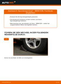 Wie der Wechsel durchführt wird: Spurstangenkopf BMW E39 523i 2.5 530d 3.0 528i 2.8 tauschen