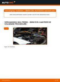 Vervanging uitvoeren: Multiriem BMW 5 SERIES