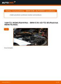 Kuinka vaihtaa Moniurahihna 523i 2.5 BMW E39 -autoon