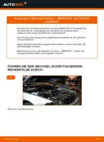 Wie der Wechsel durchführt wird: Bremsscheiben 523i 2.5 BMW E39 tauschen