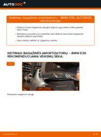 Kaip atlikti keitimą: 523i 2.5 BMW E39 Bagazines Amortizatorius