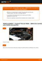 Tutoriel PDF étape par étape sur le changement de Plaquettes de Frein sur BMW 5 (E39)