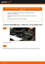 Byta bromsbelägg fram på BMW E39 – utbytesguide