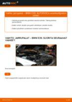 Kuinka vaihtaa jarrupalat eteen BMW E39-autoon – vaihto-ohje