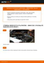Ako vymeniť predné brzdové platničky na BMW E39 – návod na výmenu
