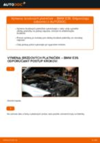 Ako vymeniť zadné brzdové platničky na BMW E39 – návod na výmenu