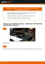 Kako zamenjati avtodel zavorne ploščice zadaj na avtu BMW E39 – vodnik menjave