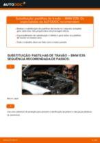 Mudar Pastilhas De Travão BMW 5 SERIES: manual técnico