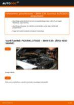 Kuidas vahetada ja reguleerida Piduriklotsid BMW 5 SERIES: pdf juhend