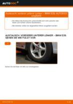 Blinkleuchten Glühlampe wechseln BMW 5 SERIES: Werkstatthandbuch