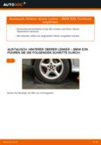 BMW 5 (E39) Querlenker vorne unten hinten ( links + rechts ) austauschen: Anweisung pdf