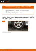 Udskift bageste øvre arm - BMW E39 | Brugeranvisning