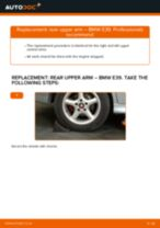 BMW 5 (E39) change Control Arm rear and front: guide pdf
