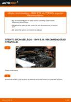 Byta bromsbelägg bak på BMW E39 – utbytesguide