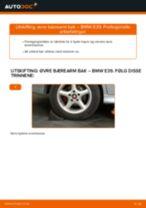 Slik bytter du øvre bærearm bak på en BMW E39 – veiledning