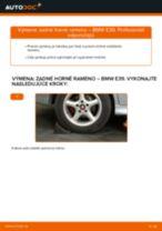 Ako vymeniť zadné horné rameno na BMW E39 – návod na výmenu