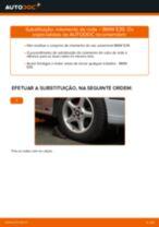 Como mudar rolamento da roda da parte dianteira em BMW E39 - guia de substituição