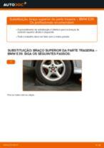 Como mudar braço superior da parte traseira em BMW E39 - guia de substituição