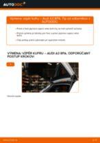 Ako vymeniť vzpěry kufru na Audi A3 8PA – návod na výmenu