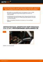 Πώς να αλλάξετε αμορτισέρ πορτ μπαγκαζ σε Audi A3 8PA - Οδηγίες αντικατάστασης