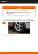 BMW 5 (E39) vahetada Piduriklotside komplekt eesmine ja tagumine: käsiraamatute pdf