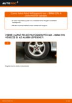 Hátsó felső felfüggesztő kar-csere BMW E39 gépkocsin – Útmutató