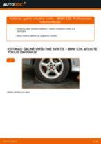 Kaip pakeisti BMW E39 galinė viršutinė svirtis - keitimo instrukcija