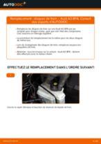 Comment changer : disques de frein arrière sur Audi A3 8PA - Guide de remplacement