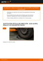 Cómo cambiar: rótula de dirección - Audi A3 8PA   Guía de sustitución