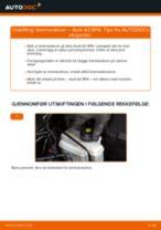 Mekanikerens anbefalinger om bytte av AUDI Audi A3 8pa 1.9 TDI Bremsecaliper