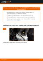 Menjava zadaj in spredaj Zavorni kolut AUDI naredi sam - navodila pdf na spletu