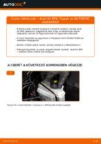 AUDI A3 Sportback (8PA) Fékdob beszerelése - lépésről-lépésre útmutató