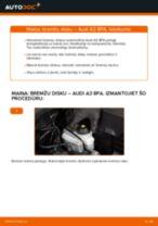 Kā nomainīt: priekšas bremžu diskus Audi A3 8PA - nomaiņas ceļvedis
