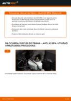 Schimbare Disc frana AUDI A3: manual de intretinere si reparatii