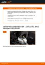 Udskift bremseskiver for - Audi A3 8PA | Brugeranvisning