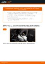 Cambiare Pastiglie Freno AUDI A3: manuale tecnico d'officina