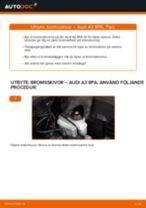 Byta bromsskivor fram på Audi A3 8PA – utbytesguide
